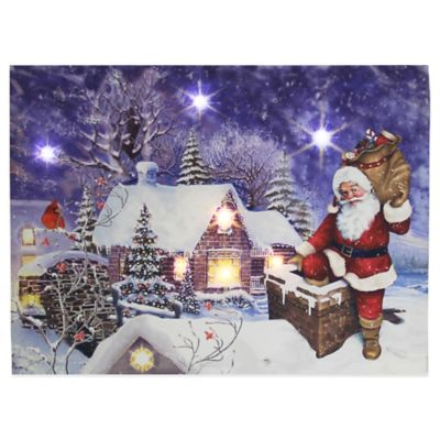 Kurt Adler Battery Operated Santa Chimney LED Wall Decoration