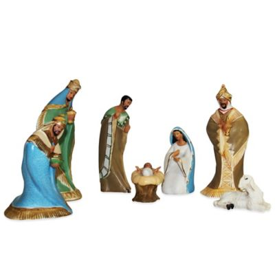 Kurt Adler African American 6-Piece Nativity Set