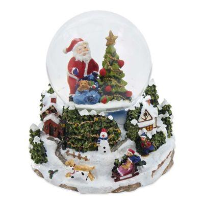 Kurt Adler Musical LED Santa and Tree Waterglobe