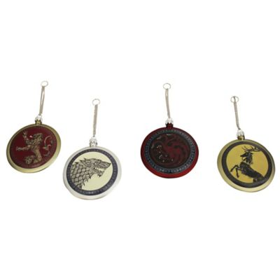 "Kurt Adler ""Game of Thrones"" Disc 4-Piece Ornament Set"