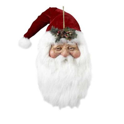 Kurt Adler 20-Inch Santa Head Christmas Ornament