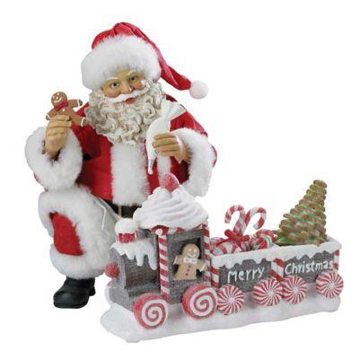 Kurt Adler Santa with Gingerbread Train