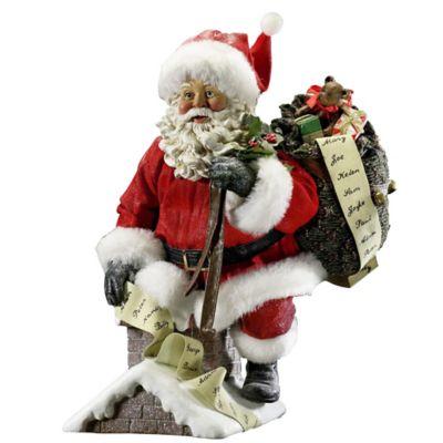 Kurt Adler Fabriché Santa Coming Out of Chimney