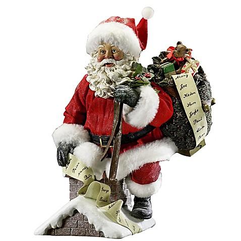 kurt adler fabrich 233 santa coming out of chimney www