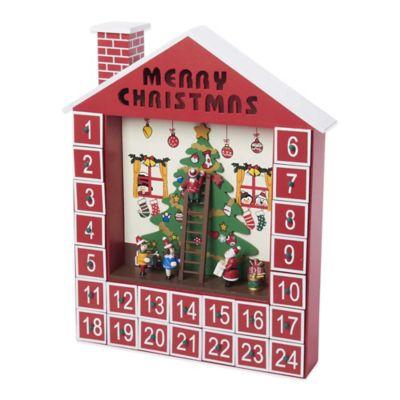 Kurt Adler Wooden Advent Calendar House