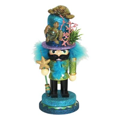 Kurt Adler Hollywood 11-Inch Nutcracker with Sea Turtle Hat