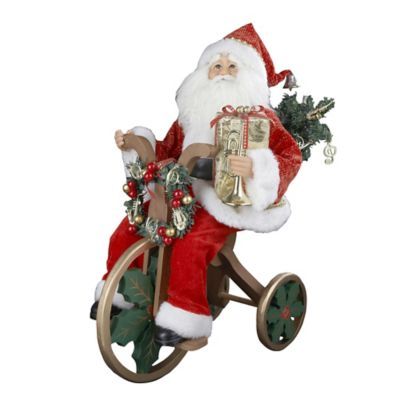 Kurt Adler 20-Inch Red and Gold Santa on Tricycle