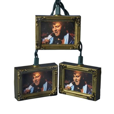 Kurt Adler 10-Light Elvis Picture Frame Light Set