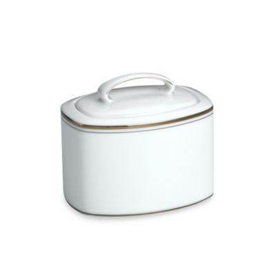 kate spade new york Library Lane Platinum™ Covered Sugar Dish