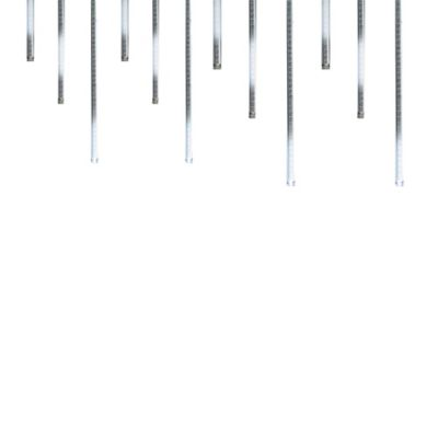 Kurt Adler 12-Light LED Snow Shower Light Set in White