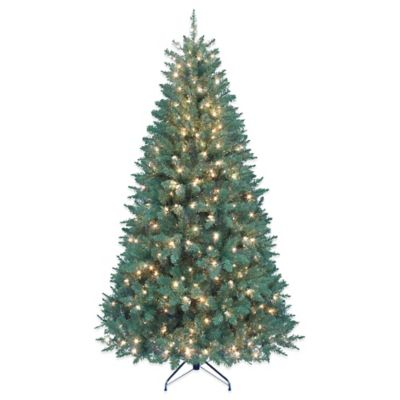 Kurt Adler 7-Foot Pre-Lit Point Pine Christmas Tree