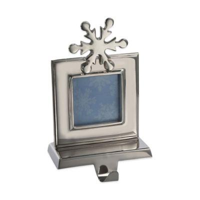 Kurt Adler 9-Inch Shiny Photo Frame Stocking Holder in Silver