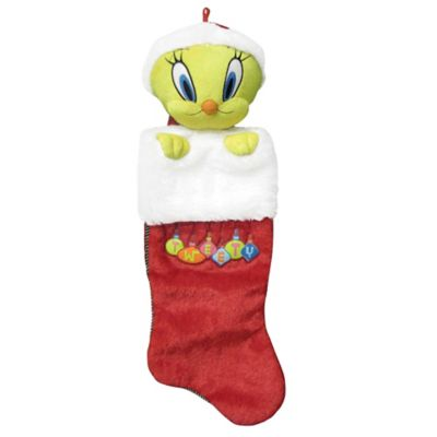 Kurt Adler 21-Inch Tweety Bird Plush Head Christmas Stocking