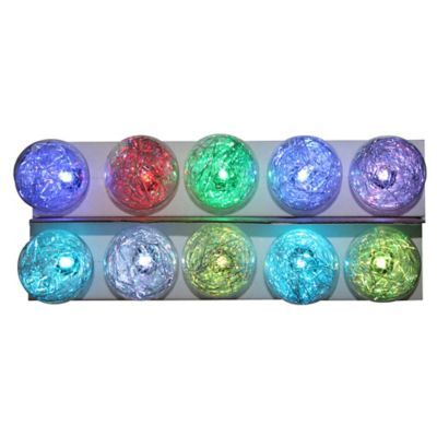 Kurt Adler 10-Light G40 Tinsel Ball LED Light Set
