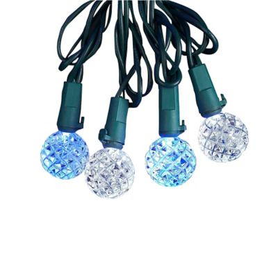 Kurt Adler 25-Light LED Diamond Cut Light Set in Blue/White