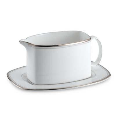kate spade new york Library Lane Platinum Gravy Boat and Stand
