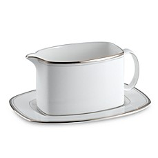 kate spade new york Library Lane Platinum™ Gravy Boat and Stand
