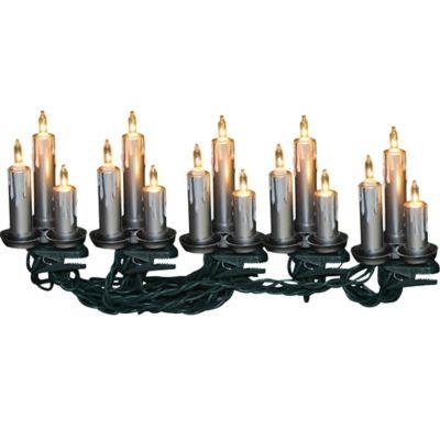 Kurt Adler 15-Light Triple Candle Light Set in Silver