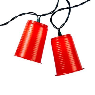 Kurt Adler 10-Light Red Party Cup Light Set