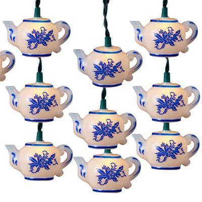 Kurt Adler 10-Light Teapot Light Set