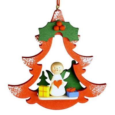 Christian Ulbricht Angel with Gifts Cutout Christmas Ornament