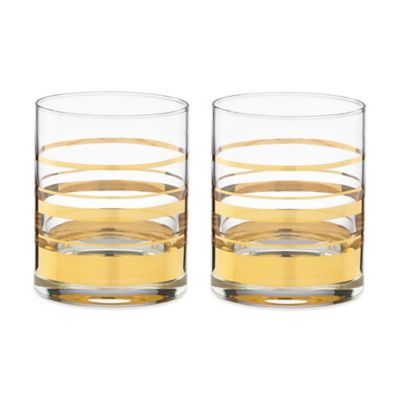 kate spade new york Hampton Street Double Old Fashioned Glass (Set of 2)