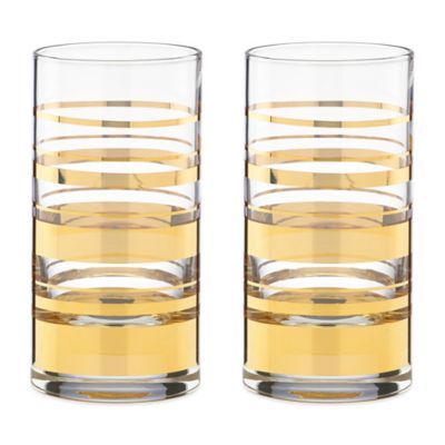 kate spade new york Hampton Street Highball Glass (Set of 2)