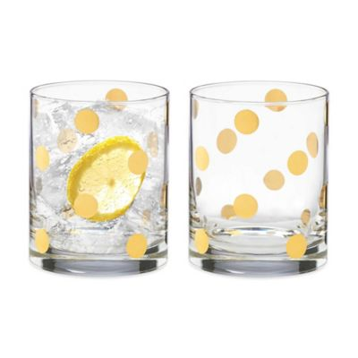kate spade new york Pearl Place Double Old Fashioned Glass (Set of 2)