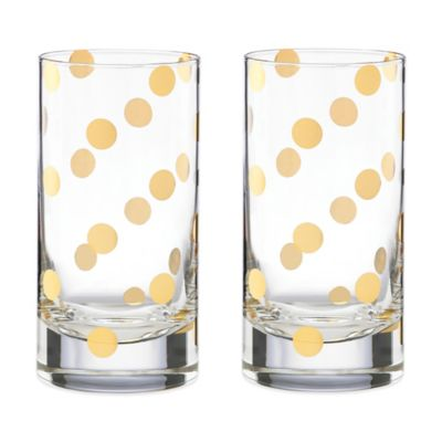 kate spade new york Pearl Place Highball Glass (Set of 2)