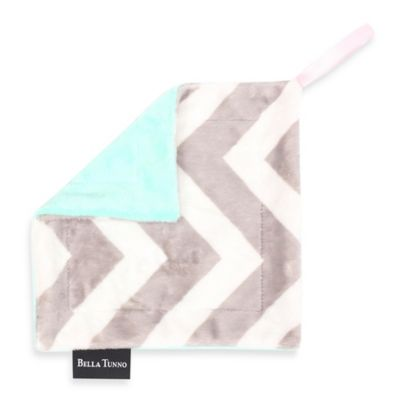 Bella Tunno™ Pacifier Lovey in Mint ZigZag