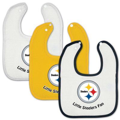 NFL Pittsburgh Steelers 3-Pack Baby Bibs