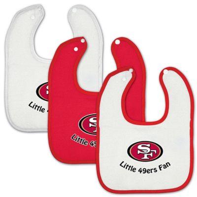 NFL 3-Pack Baby Bibs > NFL San Francisco 49ers 3-Pack Baby Bibs