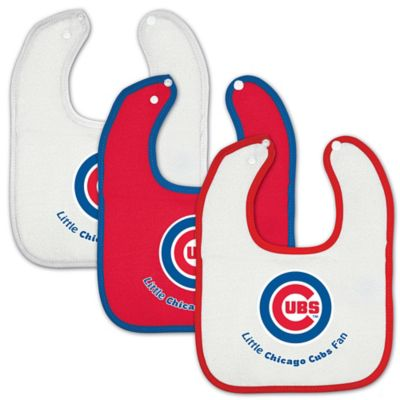 MLB Chicago Cubs 3-Pack Baby Bibs