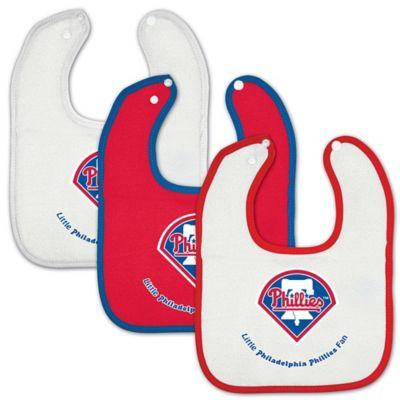 MLB Philadelphia Phillies 3-Pack Baby Bibs