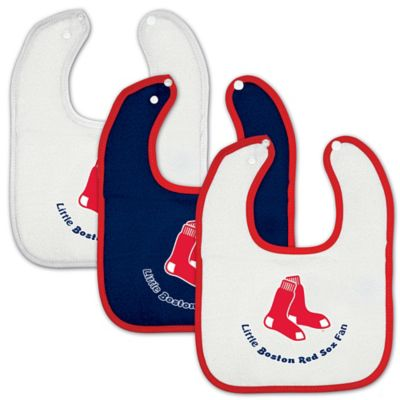 MLB Boston Red Sox 3-Pack Baby Bibs