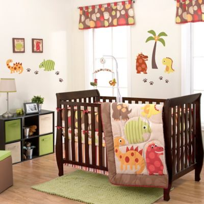 Belle Dino World 3-Piece Crib Bedding Set