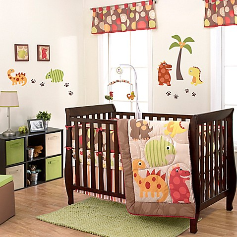 Buy belle dino world 3 piece crib bedding set from bed for World crib bedding