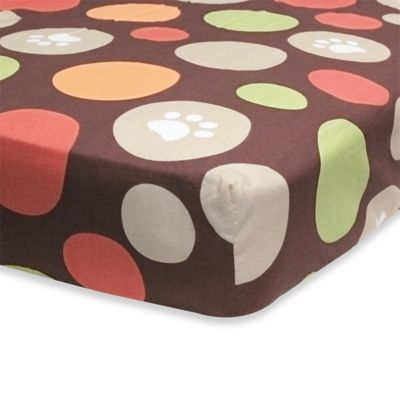 Belle Dino World Fitted Crib Sheet