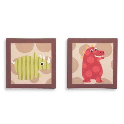 Belle Dino World 2-Piece Canvas Wall Art