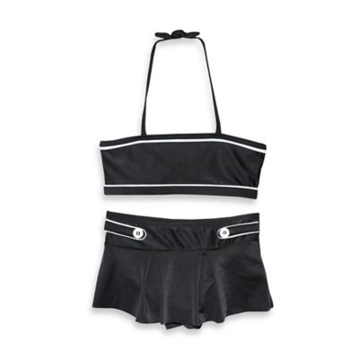 sol swim® Size 3T 2-Piece Retro Swimsuit in Black/White