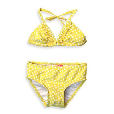 sol swim® Size 24M 2-Piece Polka Dot Swimsuit in Yellow/White
