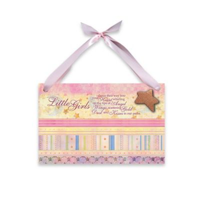 "Imagine Design Lil Star ""Girls"" Plaque in Pink"