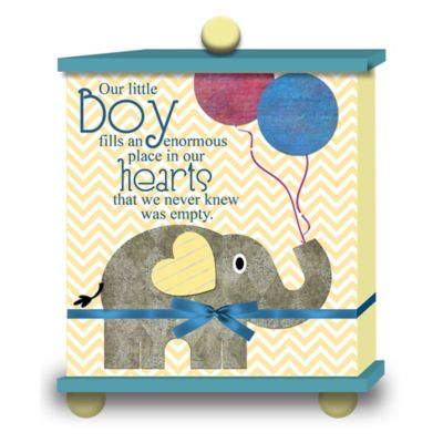 "Imagine Design ""Our Little Boy..."" Memory Box in Blue"