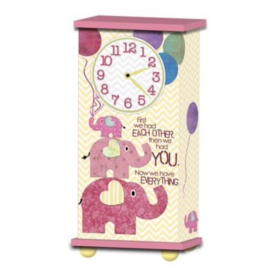 "Imagine Design ""First We Had Each Other..."" Treasured Times Clock in Pink"
