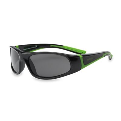 Real Kids Shades Bolt Polarized Sunglasses in Black/Lime