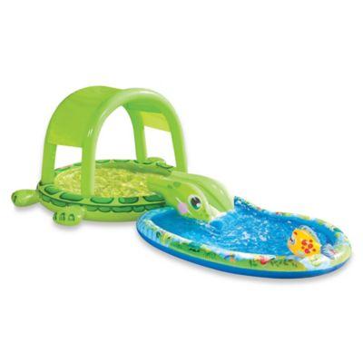 Banzai Shade-N-Slide Turtle Splash Pool