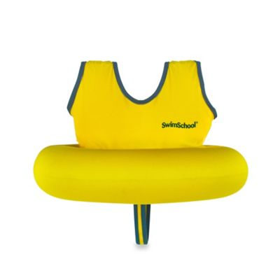 Aqua Leisure® Deluxe Tot Trainer with Safety Strap in Yellow