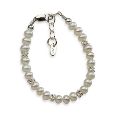 Cherished Moments Medium Sterling Silver and Freshwater Pearl Victoria Bracelet