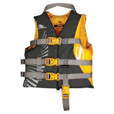 Coleman® Stearns® Child's Nylon Life Jacket in Yellow/Grey