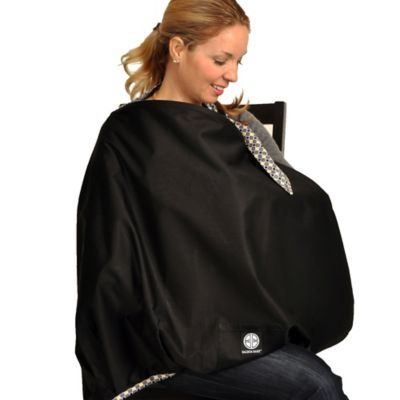 Balboa Baby® Nursing Cover in Black with Diamond Trim